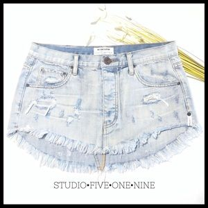 🕊One Teaspoon • Junkyard Mini Skirt